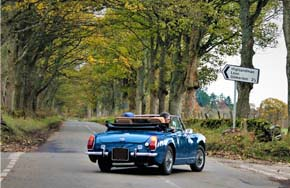 hire classic car for honeymoon