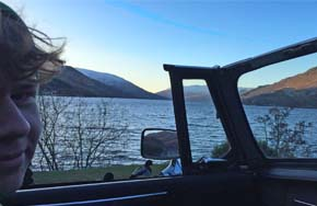 driving past Loch Earn