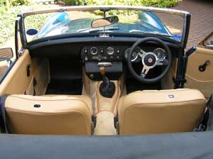 MG Midget leather interior upholstery