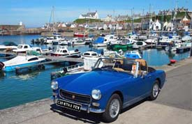 touring Fife in rented classic car